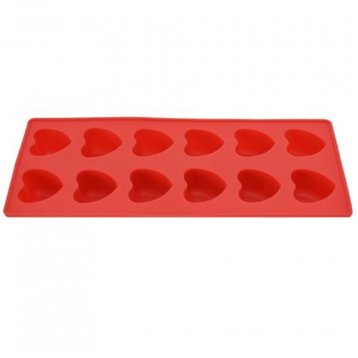 Forma de silicon pentru gheata 22,3 x 9,4 cm, Red, Dainty