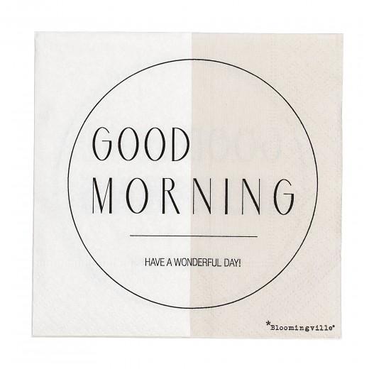 Servetele de hartie 'Good Morning', Brown/White