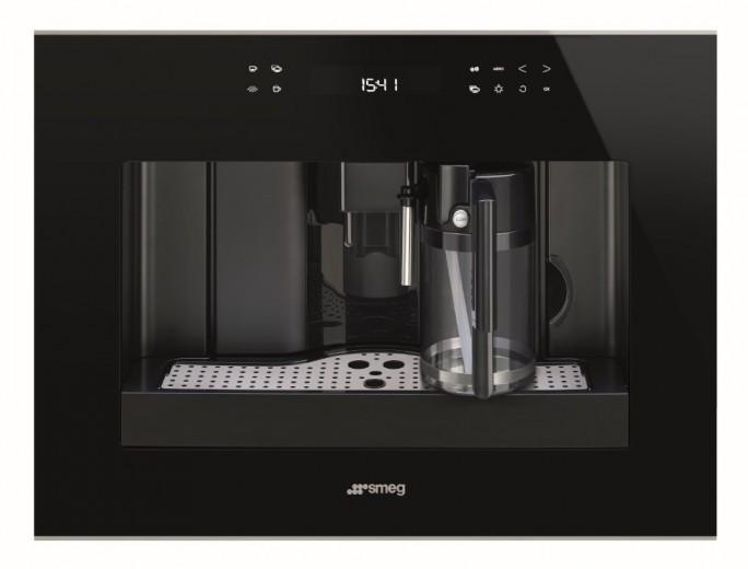 Espressor incorporabil automat CMS4601NX, Sticla neagra, 60x45 cm, Dolce Stil Novo, SMEG