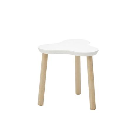 Scaun pentru copii din MDF, cu picioare din lemn Clover White / Natural, l34xA34xH28 cm