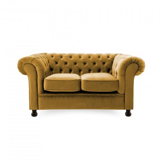 Canapea Fixa 2 locuri Chesterfield Mustard