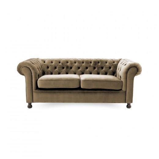 Canapea Fixa 3 locuri Chesterfield Taupe