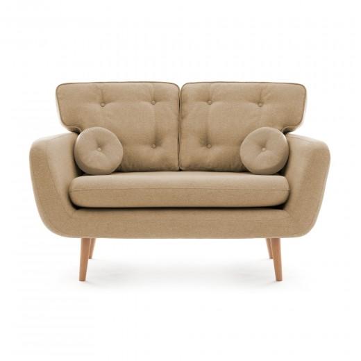 Canapea Fixa 2 locuri Malva Cream
