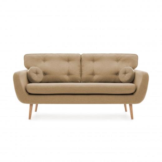 Canapea Fixa 3 locuri Malva Cream