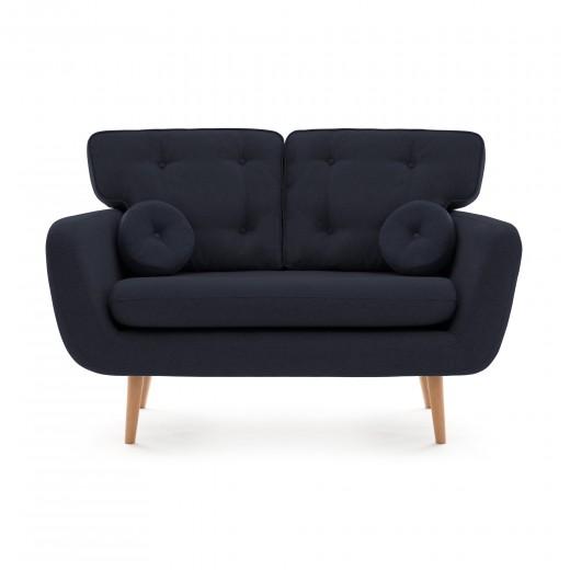 Canapea Fixa 2 locuri Malva Blue denim