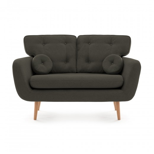 Canapea Fixa 2 locuri Malva Dark Grey