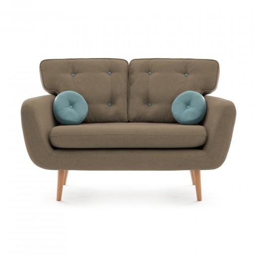 Canapea Fixa 2 locuri Malva Beige / Blue