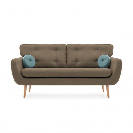 Canapea Fixa 3 locuri Malva Beige / Blue