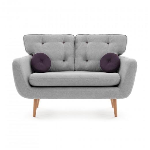 Canapea Fixa 2 locuri Malva Light grey