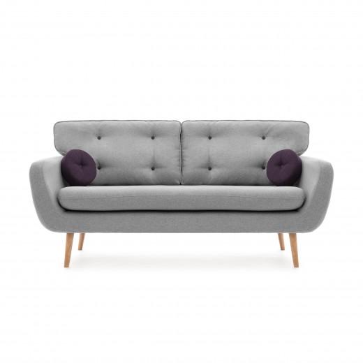 Canapea Fixa 3 locuri Malva Light grey
