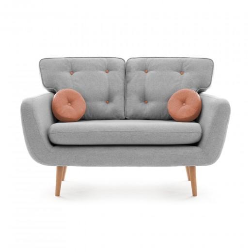Canapea Fixa 2 locuri Malva Gri