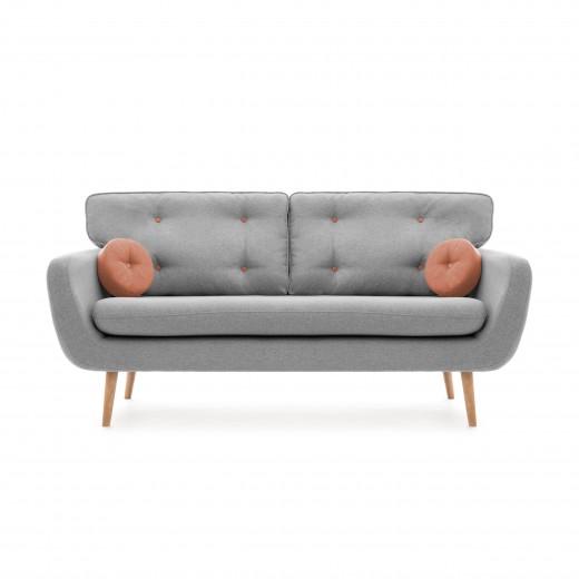 Canapea Fixa 3 locuri Malva Gri