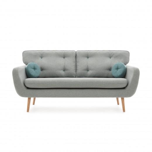 Canapea Fixa 3 locuri Malva Gri / Albastru