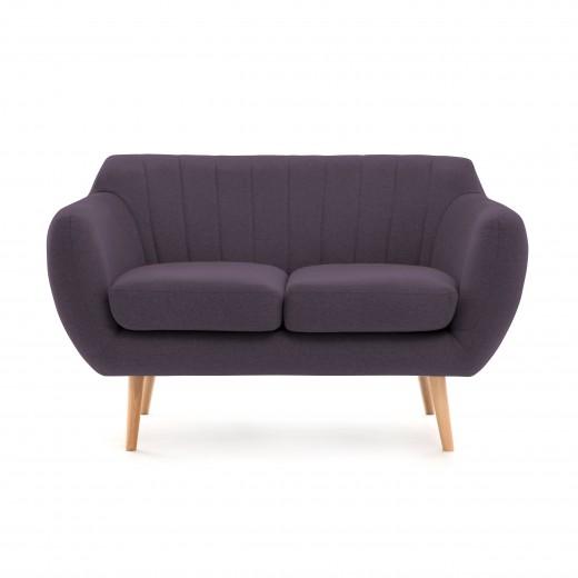 Canapea Fixa 2 locuri Kennet Aubergine