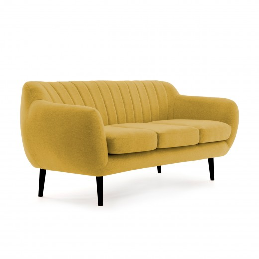 Canapea Fixa 3 locuri Kennet Lemon II