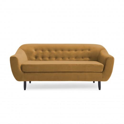 Canapea 3 locuri Laurel Mustard