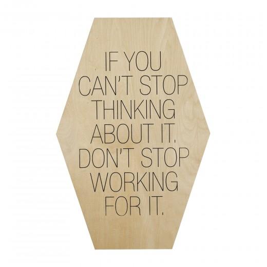 "Mesaj motivational "" If You Can´t Stop... "" Nature/Negru, l40xH60 cm"