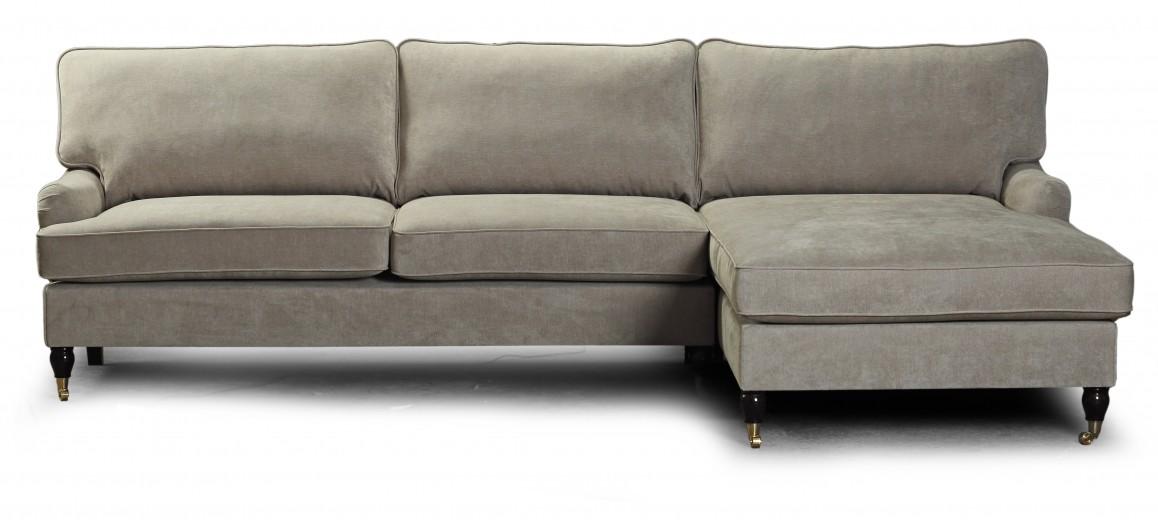Coltar Howard Lounge Grey cu sezlong pe dreapta
