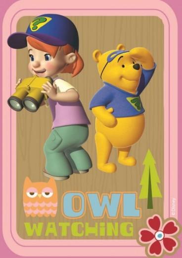 Covor Disney Kids Tigger & Pooh Pink 608, Imprimat Digital