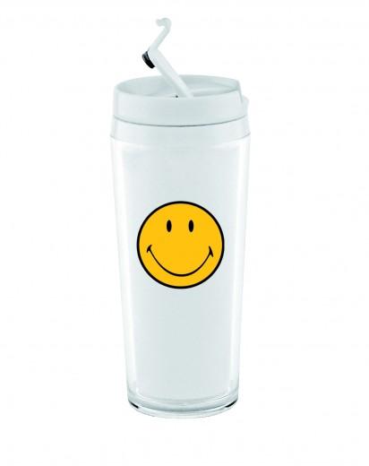 Pahar Mini Hot Smiley Alb, 200 ml