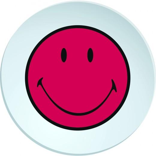 Farfurioara Smiley Deep Visiniu/Alb, Ø20 cm