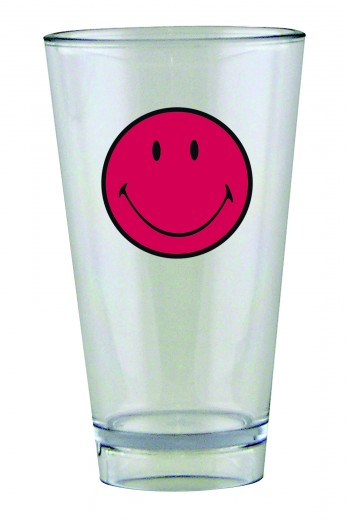 Pahar pentru party Smiley Tumbler Visiniu/Transparent, 330 ml