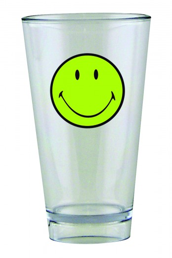 Pahar pentru party Smiley Tumbler Verde/Transparent, 330 ml