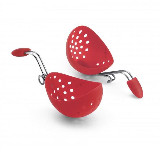 Set 2 suporturi pentru gatit oua posate Cuisipro Red