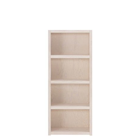 Biblioteca din lemn cu 3 Rafturi Whitewash Ivory, l66,6xA35xH159 cm