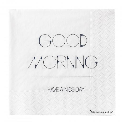 Pachet Servetele  Good Morning... Bleumarin, l25xL25 cm, 20 buc/pachet