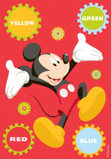 Covor Disney Kids Mickey Colors 86195, Imprimat Digital