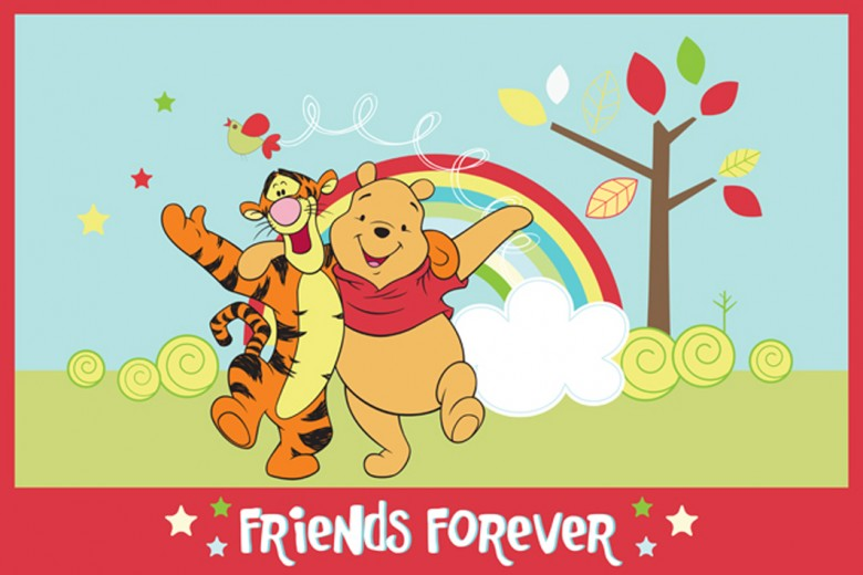 Covor Disney Kids Winnie Friends Forever 88063, Imprimat Digital