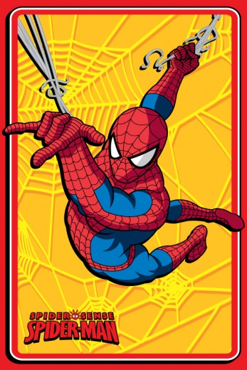 Covor Disney Kids Spider Man Yellow 88422, Imprimat Digital