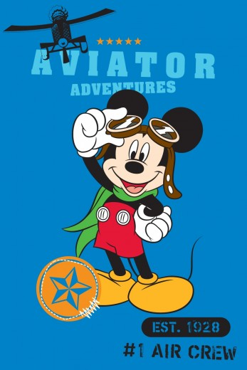 Covor Disney Kids Mickey Aviator, Imprimat Digital-120 x 168 cm