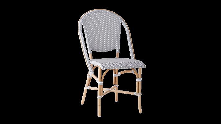 Scaun din ratan Sofie Grey, l50xA56xH89 cm