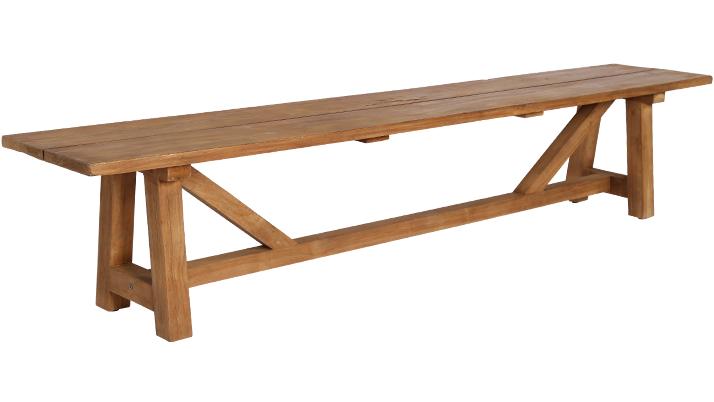 Banca din lemn de Tec George Natural, l220xA40xH45 cm