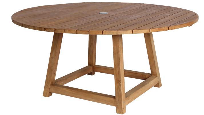 Masa rotunda din lemn de Tec George, Ø160xh72 cm