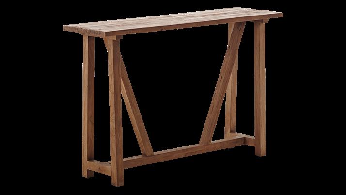 Consola din lemn Lucas Brown, l140xA40xH90 cm