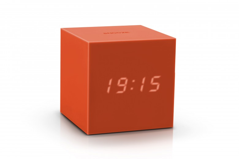 Ceas inteligent cu senzor de alarma Gravity Cube Click Clock Orange