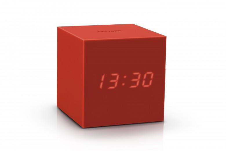 Ceas inteligent cu senzor de alarma Gravity Cube Click Clock Red
