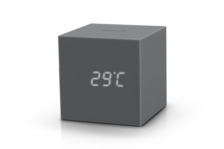 Ceas inteligent cu senzor de alarma Gravity Cube Click Clock Grey