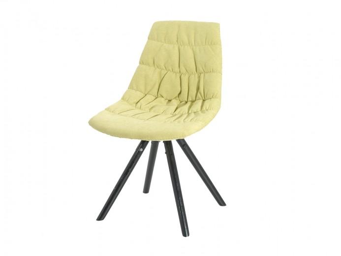 Scaun tapitat cu stofa, cu picioare de lemn Klass Yellow, l47xA54xH80 cm