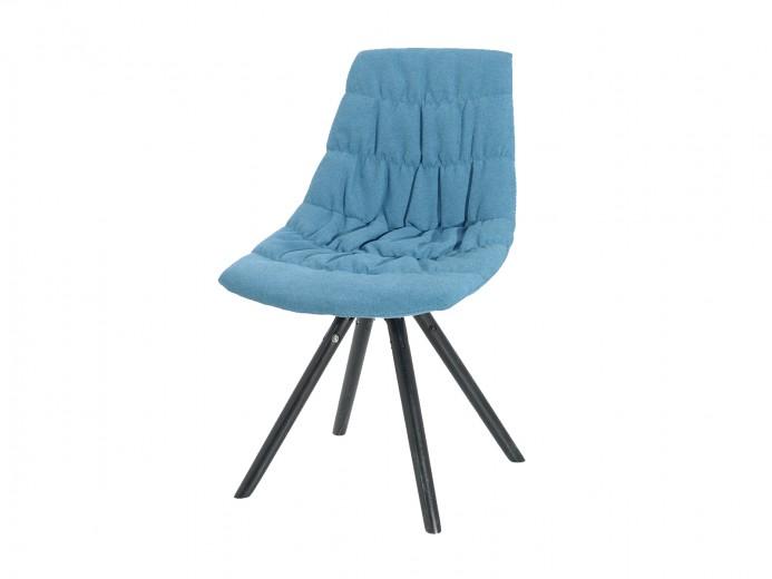 Scaun tapitat cu stofa, cu picioare de lemn Klass Light Blue, l47xA54xH80 cm