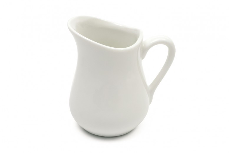 Set 6 Latiere White Basics Milk Jug Alb, Portelan, 110 ml