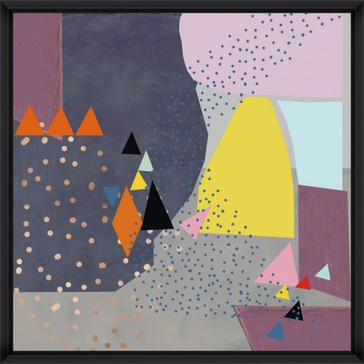 Tablou Framed Art Abstract Triangles II