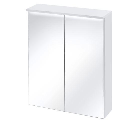 Dulap baie suspendat cu 2 usi si oglinda, Active, l60xA25xH74 cm