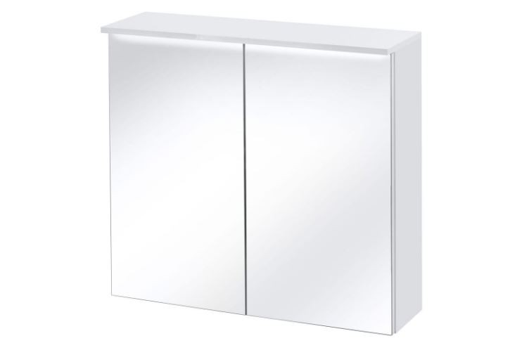 Dulap baie suspendat cu 2 usi si oglinda, Active 2, l80xA25xH74 cm