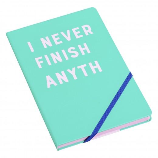 Agenda A5 I never finish YST088, 192 pagini, Wild & Wolf