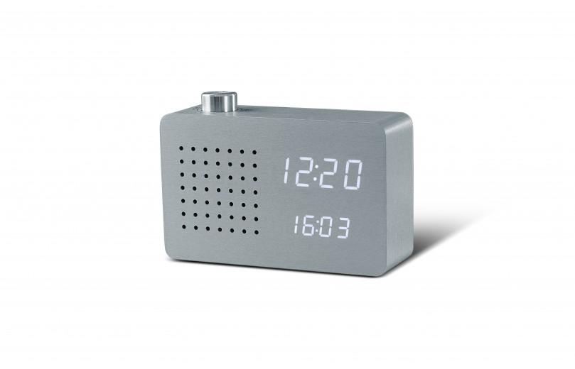 Ceas Radio Click Clock Aluminium
