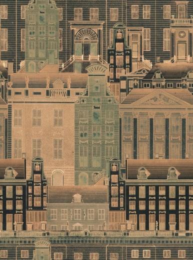 Set 3 role Tapet Imprimat Digital Amsterdam Orange